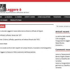 """Rinasce on line la libreria Loffredo nel portale """"Leggere è"""""""