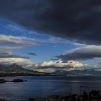 Napoli e i suoi effetti speciali, il tramonto sembra una gouache