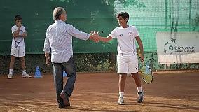 Bertolucci, lezioni di tennis al Tc Napoli