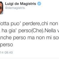 Il sindaco de Magistris cita Che Guevara via Twitter