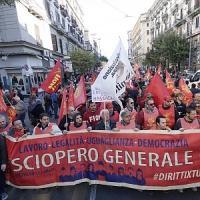 """La Fiom in corteo con Landini""""A Napoli per dare voce al Sud"""""""