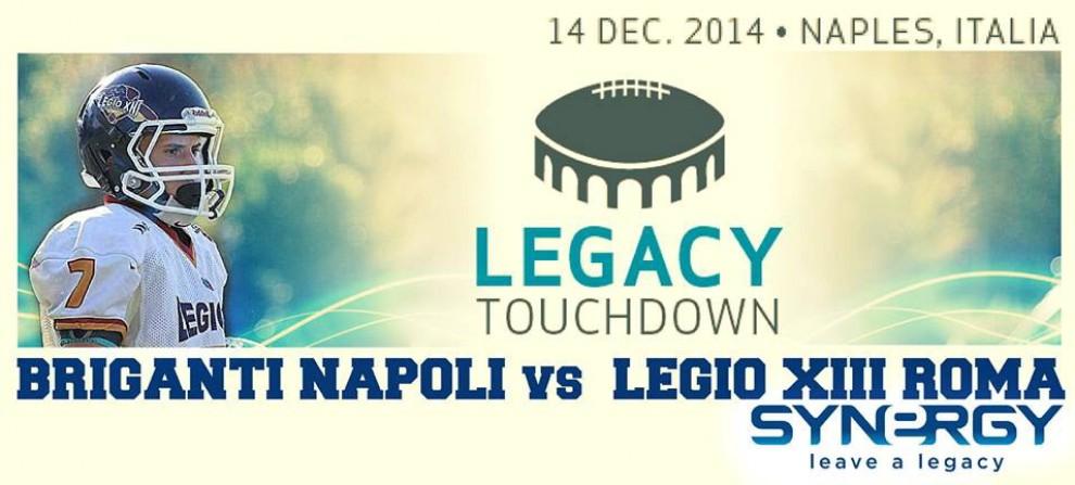 E a Napoli Briganti e Legio per il touchdown della solidarietà