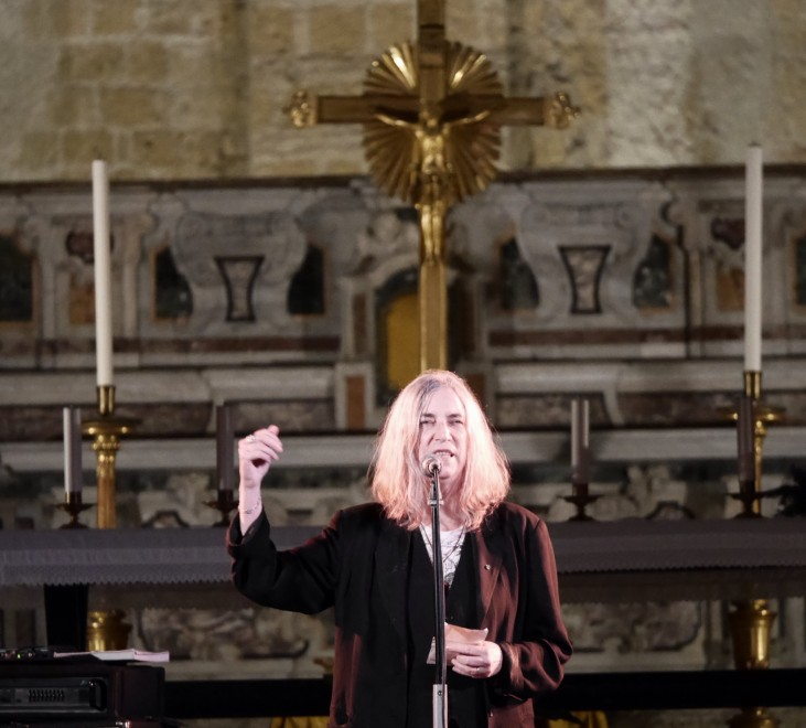 Patti Smith, rock-show in chiesa