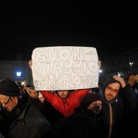 Pino Daniele negli striscioni dei suoi fan