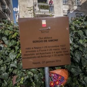 Giornata della Memoria, una targa ricorda Sergio De Simone
