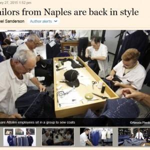 La sartoria napoletana conquista il Financial Times