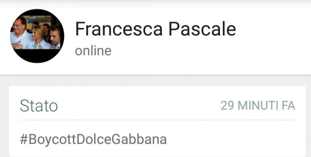Francesca Pascale aderisce alla campagna di Elton John per il boicottaggio di Dolce & Gabbana