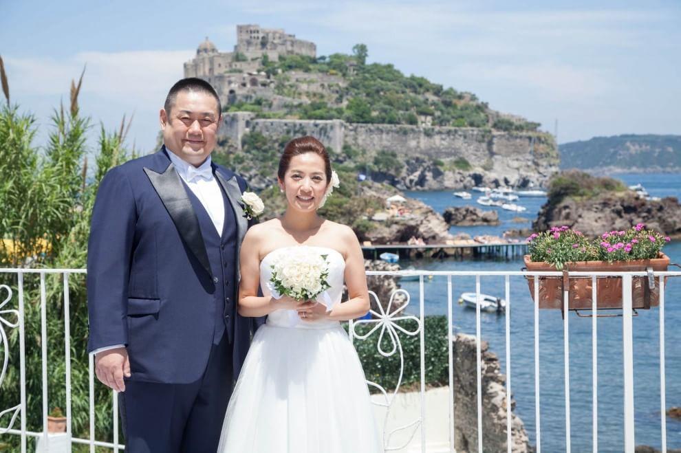 Tommy e Kanna, matrimonio giapponese a Ischia