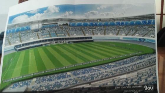 Un San Paolo all'inglese e tutto intorno gallerie commerciali: ecco la prima immagine di come sarà lo stadio