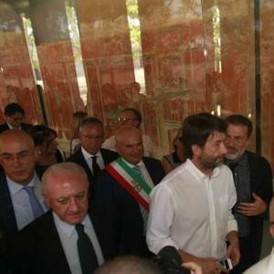 """Pompei: Franceschini inaugura la Palestra Grande: """"Il vento è girato"""""""
