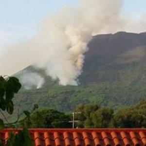 Incendi, ardomato il rogo sul Vesuvio