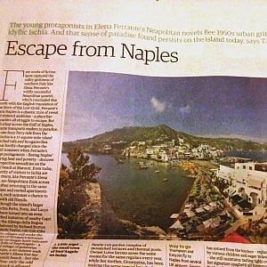"""""""The Guardian"""" in fuga da Napoli con Elena Ferrante"""