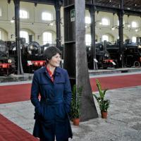 Samantha Cristoforetti al museo di Pietrarsa