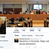 De Luca su Twitter e Facebook: La Severino?