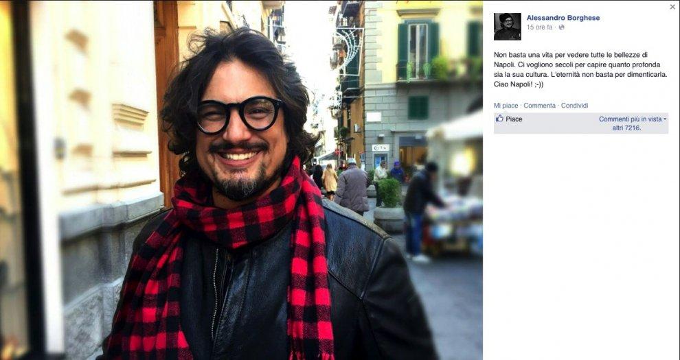 """Alessandro Borghese: """"Non basta una vita per le bellezze di Napoli"""""""