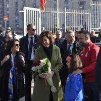 Laura Boldrini visita Scampia