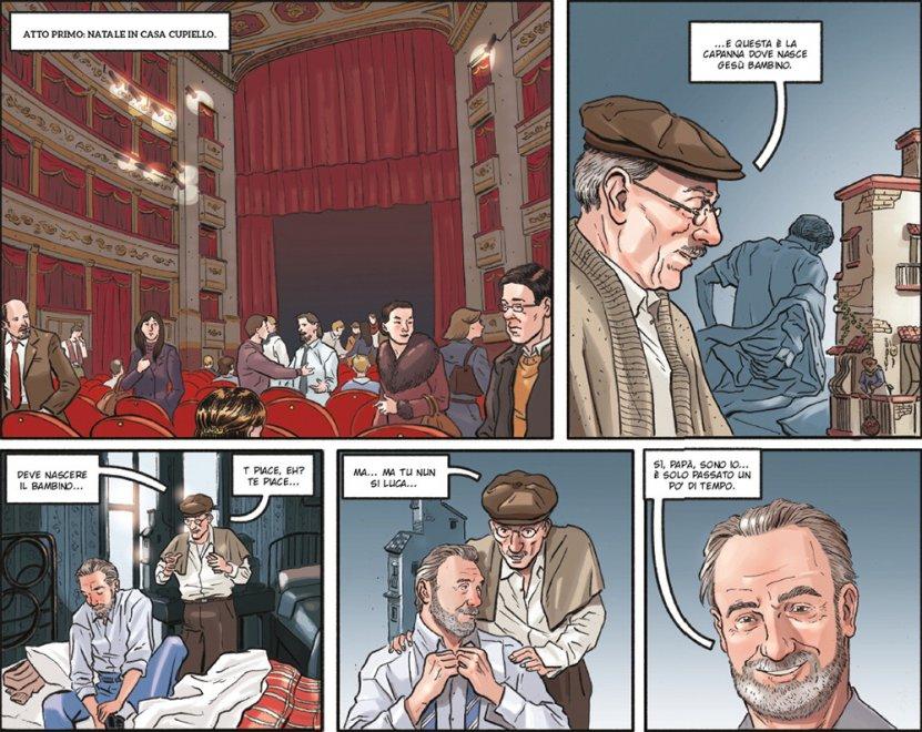 Luca ed Eduardo si incontrano a teatro, il racconto della Scuola italiana di Comix