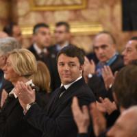 Il premier Renzi alla Reggia: