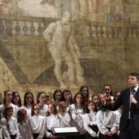 La visita del premier Renzi alla Reggia di Caserta