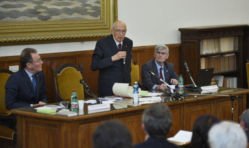 Giorgio Napolitano socio onorario della Società nazionale di Scienze, lettere e arti