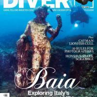 """Baia, il Parco Archeologico Sommerso in copertina sul """"Diver Magazine"""""""