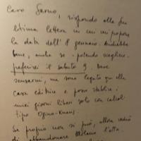 Una lettera di Umberto Eco a Pellegrino Sarno