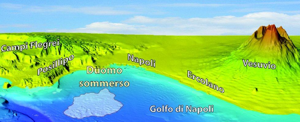 """Nel golfo di Napoli un """"duomo"""" sottomarino. Scoperte trentacinque emissioni attive"""