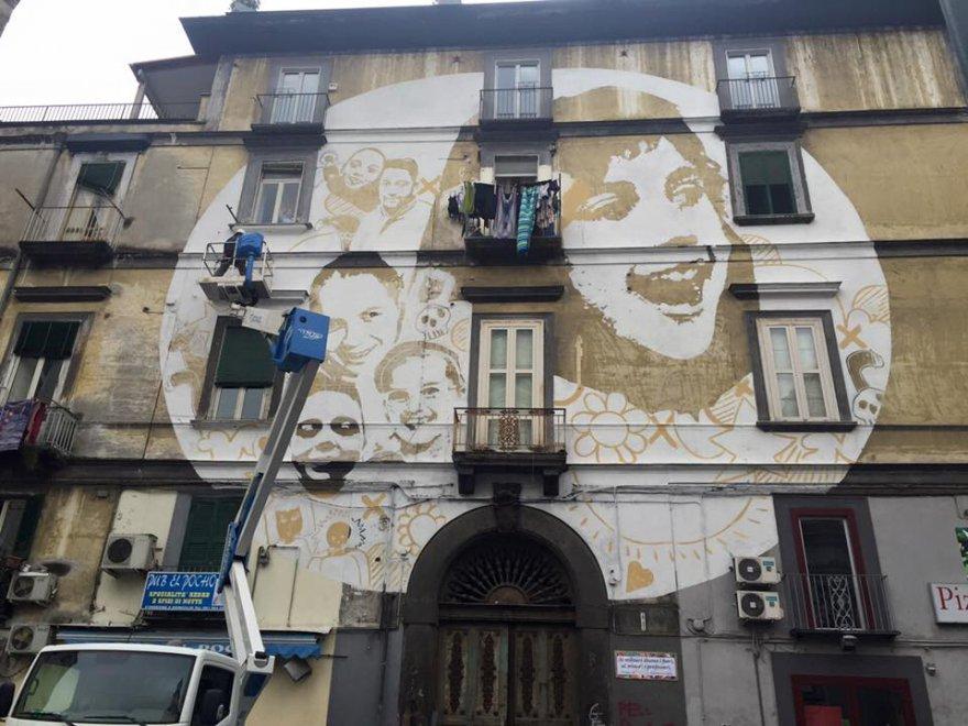 """Rione Sanità, completato il murale """"Luce"""" di Tono Cruz"""
