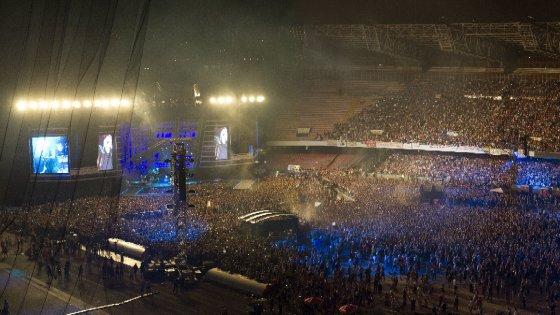 Vasco live: la notte del San Paolo ora è un disco e un film da domani in 30 sale