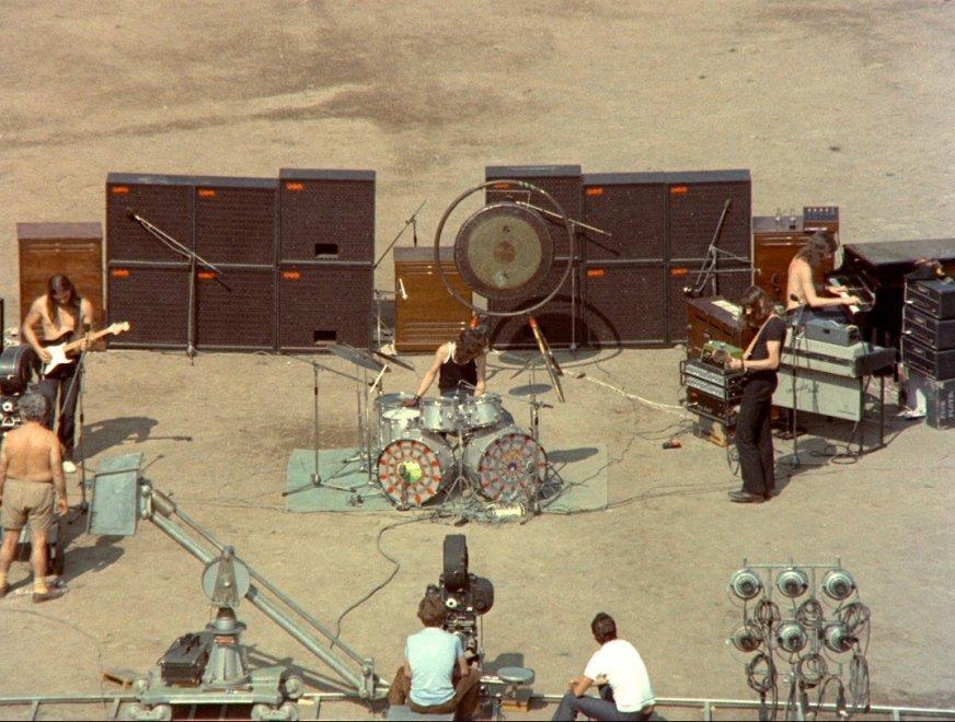 David Gilmour a Pompei nel 1971