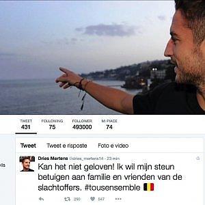 """Bruxelles, il terrore e lo sconcerto di Dries Mertens: """"Non ci posso credere..."""""""