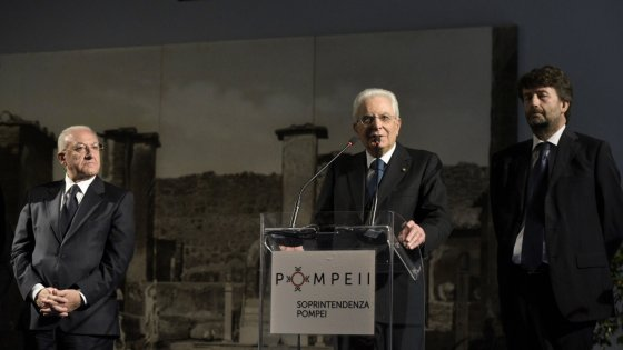 Pompei. Sergio Mattarella e Dario Franceschini inaugurano la mostra di Igor Mitoraj