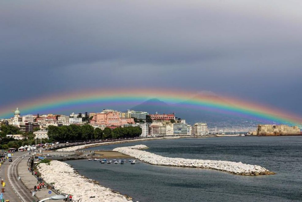 Napoli mille colori l 39 arcobaleno sul vesuvio 1 di 1 - Immagini di gufi arcobaleno ...