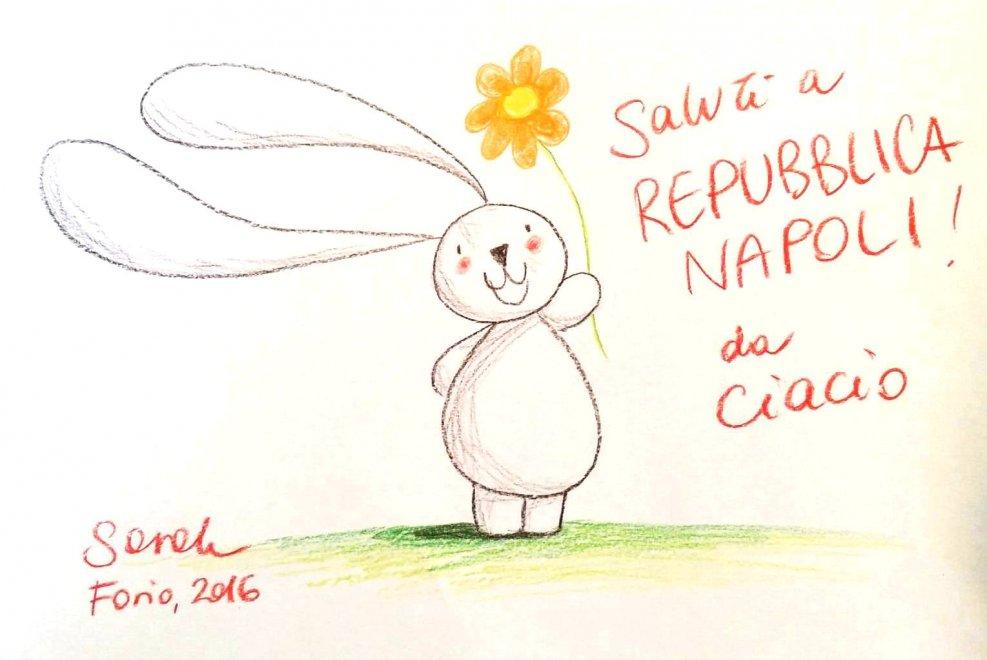 Ciacio, il coniglietto di Sarah Khoury conquista Ischia