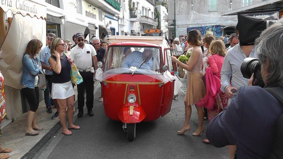 Capri, festa per il matrimonio della figlia di Christian De Sica
