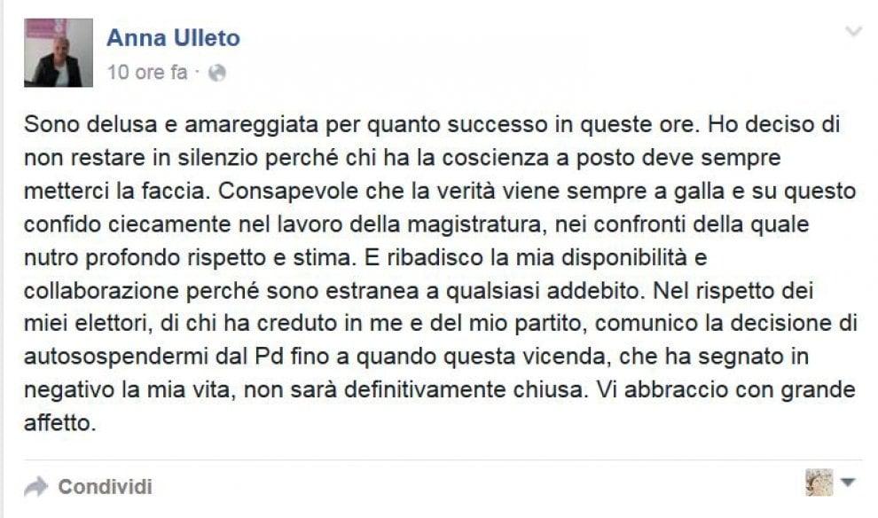 Inchiesta voto di scambio a Napoli, Ulleto si autosospende dal Pd