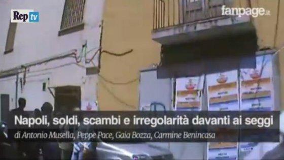 La procura di Napoli apre un'indagine dopo la diffusione del  video su scambi di soldi, certificati elettorali e cellulari davanti ai seggi