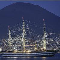 Amerigo Vespucci, la nave più bella del mondo nel golfo di Napoli