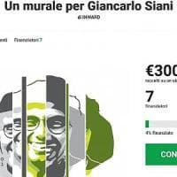 Un murale per Giancarlo Siani, al via la raccolta fondi