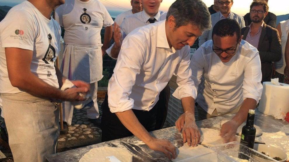 """La pizza """"Cilento Vesuviana"""" inaugura il Parco della dieta mediterraneaa"""