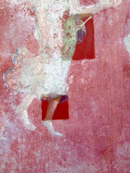 Pompei, primi interventi di restauro alla Schola Armaturarum crollata nel 2010