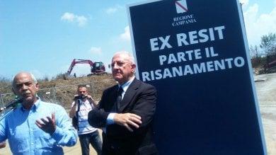 """Ex-Resit, messa in sicurezza: """"La bomba ecologica diventerà un parco""""   video"""