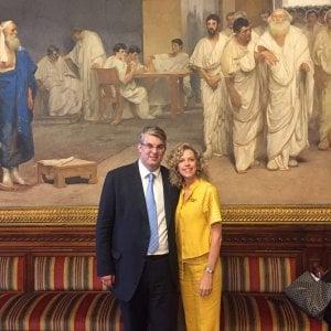 Unioni civili, Giorgio Zinno incontra a Roma Monica Cirinnà