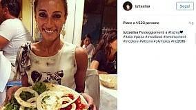 Elisa Di Francisca festeggia a Ischia l'argento olimpico
