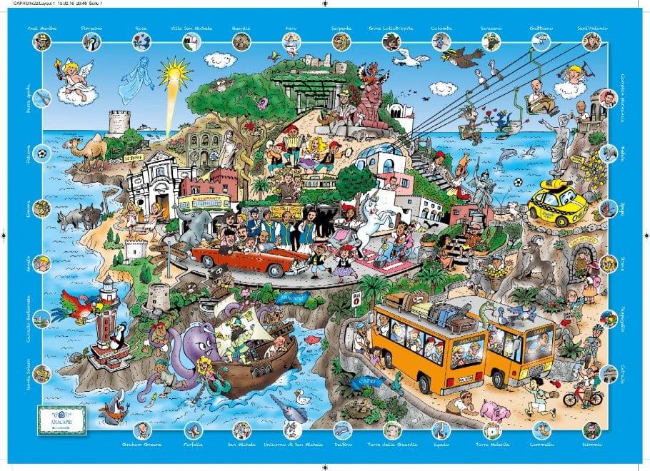 Pino, la lucertola azzurra, e la capretta Sofia: Capri diventa un cartoon