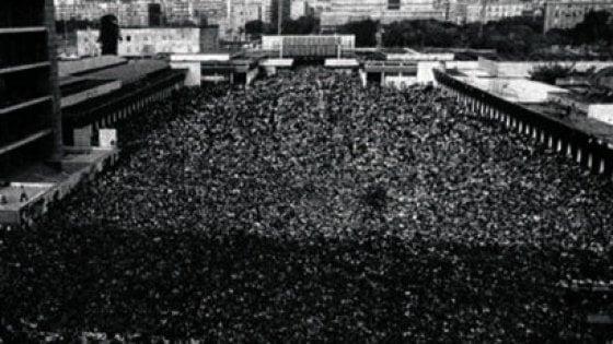 """Napoli, quella folla alla Mostra per il Festival dell'Unità che gridava """"Enrico"""""""