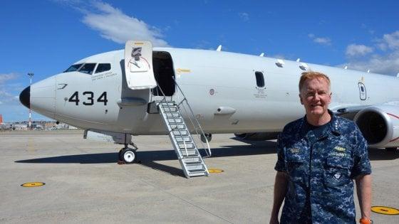 A Capodichino atterra il P-8A Poseidon, il nuovo gioiello della Us Navy per la ricognizione aerea