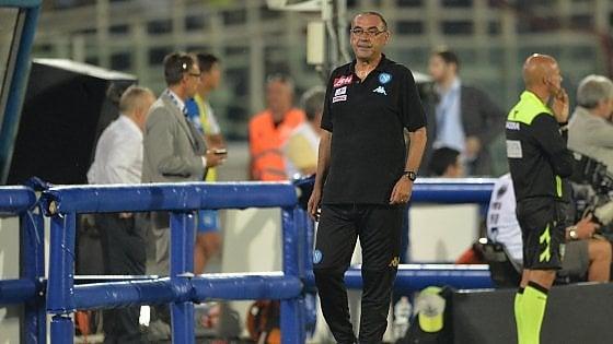 """Sarri: """"Pesante perdere Higuain e non è vero che abbiamo 2 squadre"""""""