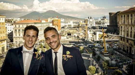 """Antonello Sannino e Danilo Di Leo: """"Noi sposi nel nome dei diritti di tutti"""""""