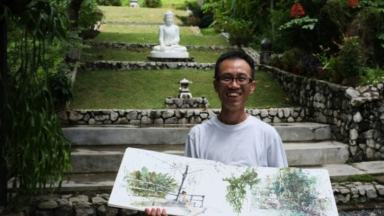 Urban sketching, un artista malese a San Martino